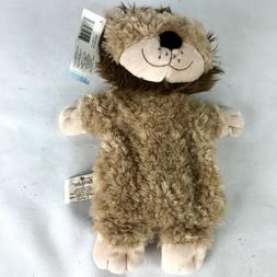 lonnie lion packed plush hand puppet stuffed