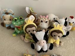Lot Of 10 Stuffed Animals And 8 Keychain Toys