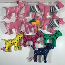 Lot of 10 Victoria Secret PINK DOGS Plush Stuffed Animals Po