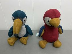 Lot of 2 Jellycat Stuffed Animals Plush Toys Belby Parrot an