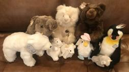 Lot Of 8 Vintage 80's Gund Plush Toy Stuffed Animals Pengu
