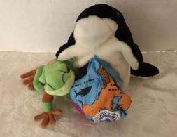 Lot Vintage Stuffed Animals Wild Republic Frog Reversible Gl