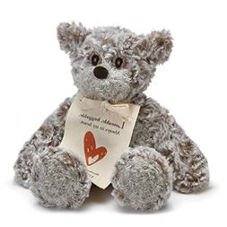 DEMDACO Loveable Huggable Mini Giving Bear Children's Plush