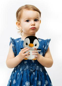 Lovely Baby Penguin Plush - Realistic Stuffed Toy - 8 Inches