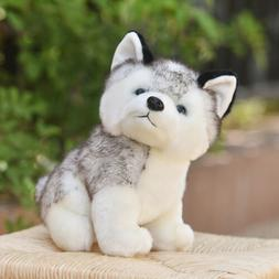 Lovely Husky Dog Plush Toy Stuffed Animal Soft Wolf Pet Doll