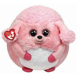 Ty Beanie Ballz Lovey Plush - Pink Poodle, Large
