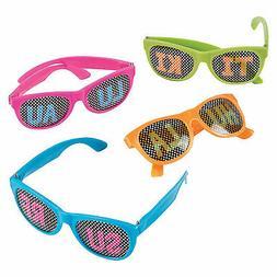 Luau Pinhole Glasses - 12 Pc. - Apparel Accessories - 12 Pie