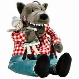 IKEA LUFSIG Big Bad Wolf and Granny Grandma Plush Stuffed An