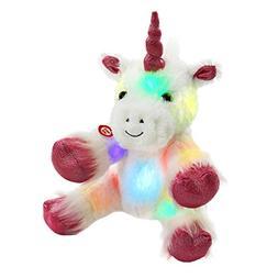 WEWILL Glow Unicorn LED Stuffed Animals with Heavenly Cozy W