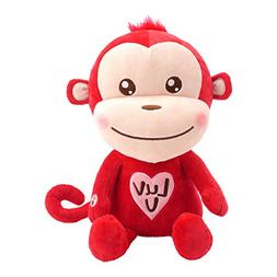 Hallmark Luv Monkey Plush Stuffed Animal with Sound, Valenti