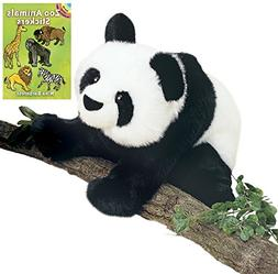 "Douglas Mai-Ling Panda 15"" Plush with Zoo Animals Stickers B"