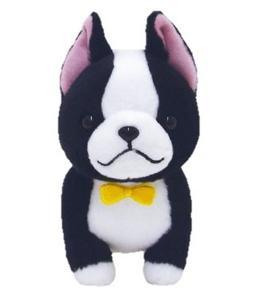 Amuse Mameshiba 3 Brothers Series Plush Dog Doll Black Bosto