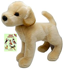 "Douglas Mandy Yellow Lab 16"" Plush with Dog Stickers Book"