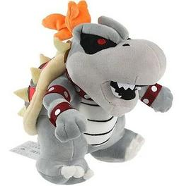 "New Mario Bros Series 10"" Dry Bowser Bones Koopa Plush Toy D"