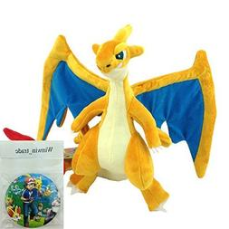 Generic Mega Charizard Y Yellow Plush Lizardon Dragon Evolut