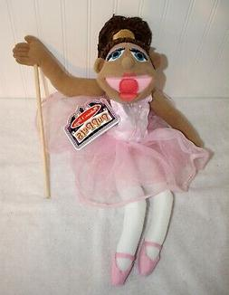 Melissa & Doug * Ballerina Hand Stick Puppet Plush Doll * NE