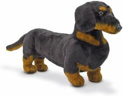 Melissa and Doug Dachshund Dog Stuffed Animal Black and Tan