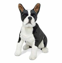 Melissa & Doug Giant Boston Terrier - Lifelike Stuffed Anima