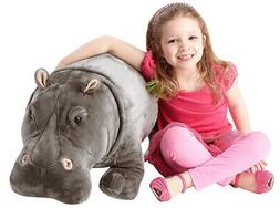Melissa & Doug® Giant Hippopotamus - Lifelike Stuffed Anima