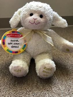 Melissa & Doug Jesus Loves Me Lamb Plush - Stuffed Animal Wi