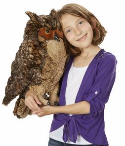 Melissa & Doug Lifelike Plush Owl Stuffed Animal & Plush Toy