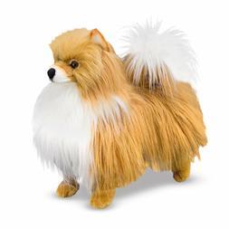 MELISSA AND DOUG PLUSH POMERANIAN DOG FACTORY NEW AND FREE S