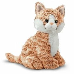 Melissa & Doug Pumpkin Tabby - Stuffed Animal Cat 10 INCHES