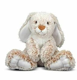Melissa Doug Burrow Bunny Rabbit Stuffed Animal, Washable Su