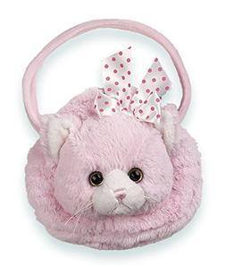 Bearington Meow Meow Carrysome, Girls Plush Pink Kitty Stuff