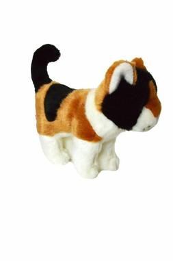 Mini 8 Inch Calico Plush Cat  Juju Bean- Kitten Stuffed Anim