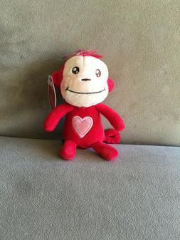 Mini Luv Monkey Hallmark Stuffed Plush Animal Baby Valentine