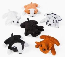Mini Plush Velour Bean Bag Dogs