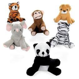 Mini Zoo Velour Bean Bag Animals