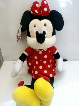 """DISNEY Minnie Mouse Plush Backpack Stuffed Animal Red 24"""" Di"""