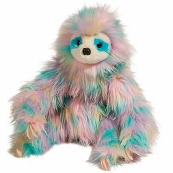 "Misha Sloth Rainbow Fuzzle 12"" Douglas stuffed animal plush"