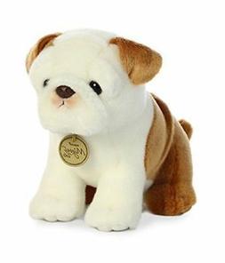 """Aurora World Miyoni Bulldog Pup Plush Toy, Brown/White 9"""" Hi"""