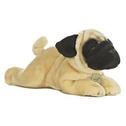 """Miyoni by Aurora Pug Puppy Dog 11"""" Plush Stuffed Animal New"""