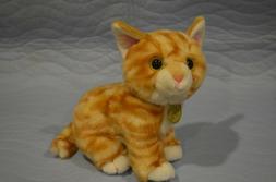 """Aurora Miyoni Tot 10"""" Stuffed Animal Plush - Orange Tabby Ki"""