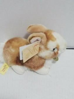"Miyoni Tots BABY BUNNY 7"" Plush Brown White Rabbit Stuffed A"