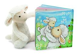 Jellycat My Mom and Me Board Book and Bashful Lamb, Medium -