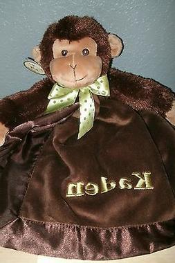 Monkey Jungle Animal Snuggler Personalized Security Blanket