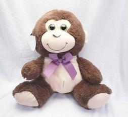 Monkey Plush Stuffed Animal w/ Glitter Eyes