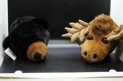 "Wall Mountable Moose Head - Plush Moose Stuffed Animal - 11"""