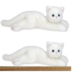 Bearington Muffin Plush Stuffed Animal White Cat, Kitten 15