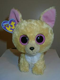 """Ty Beanie Boos ~ NACHO the 6"""" Chihuahua Dog ~ MINT with MINT"""