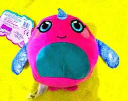 Natalie Narwhal Narval-mushmeez Moldable squishable Plush,tr