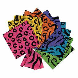 Neon Animal Print Bandannas