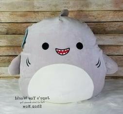 """☆New☆ 16"""" Squishmallows Gordon Grey Shark SEA LIFE Fish"""