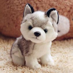 "New 7"" Plush Dolls Soft Toy Stuffed Animal Lovely Husky Dog"