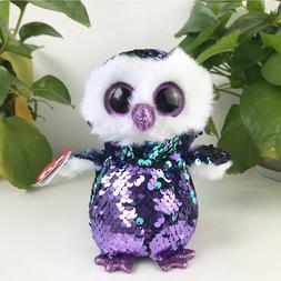 "New 6""ty Beanie Boos Glitter Eyes Plush Stuffed Animals Toys"